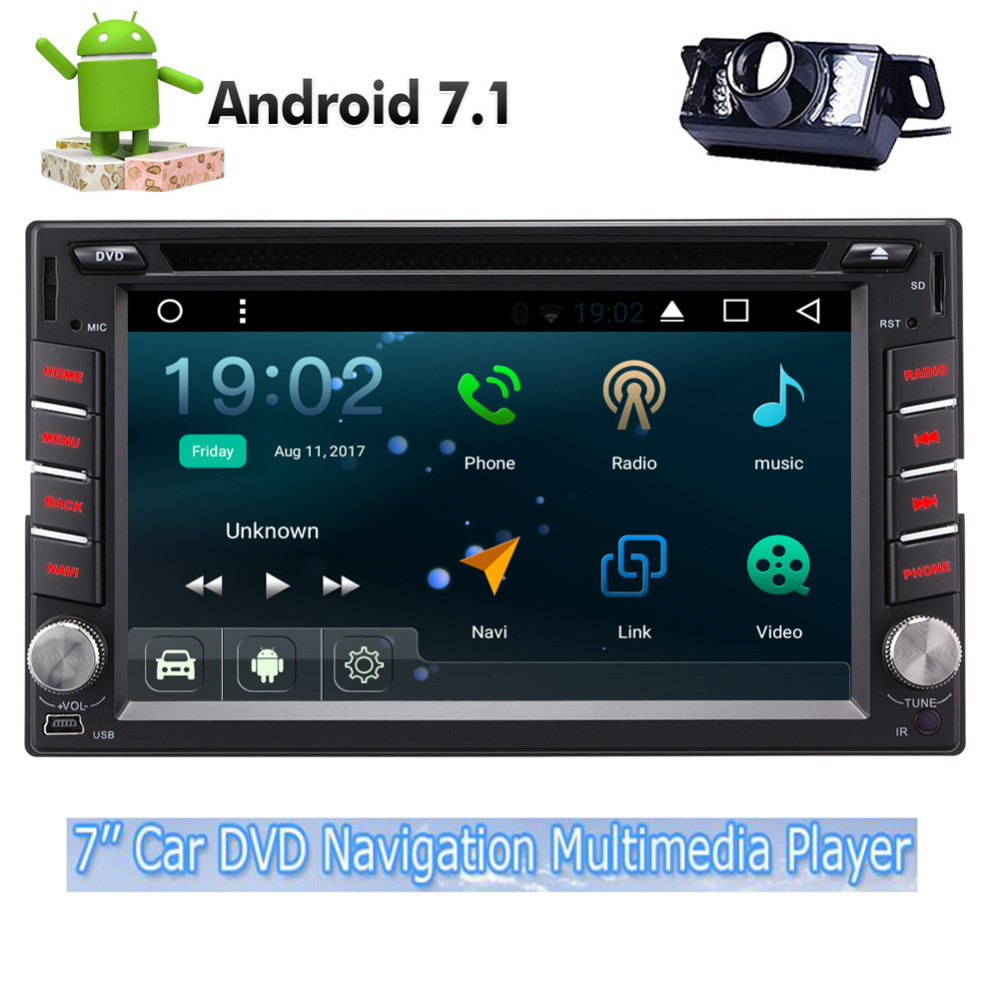 Eincar Car DVD Player Quad Core Android 7.1 Stereo 6.2