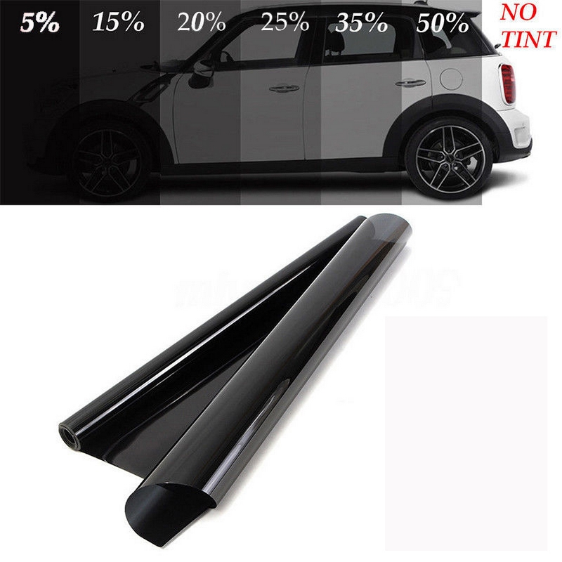 50*600cm Black Window Film For Car Window Glass VLT Auto House Commercial UV+Insulation Car Film For Side Windows-in Car Stickers from Automobiles & Motorcycles