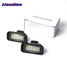 цена на Liandlee For Mercedes Benz A Class W176 2012~2015 LED Car License Plate Light / Number Frame Lamp / High Quality LED Lights