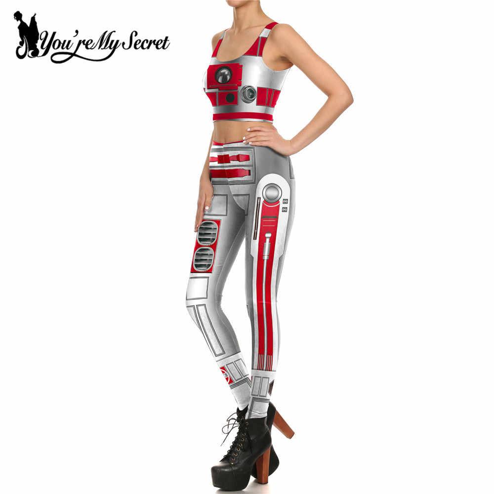 [Você é Meu Segredo] New One Set Mulheres Leggings 3d Digital Print Quadrinhos de Star Wars Artoo 2.0 Armadura cosplay Leggin Mulheres Clothings