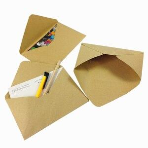 Image 5 - 100 pçs/lote novo vintage diy multifuncional papel kraft envelope 16*11cm presente cartão envelopes para festa de aniversário casamento