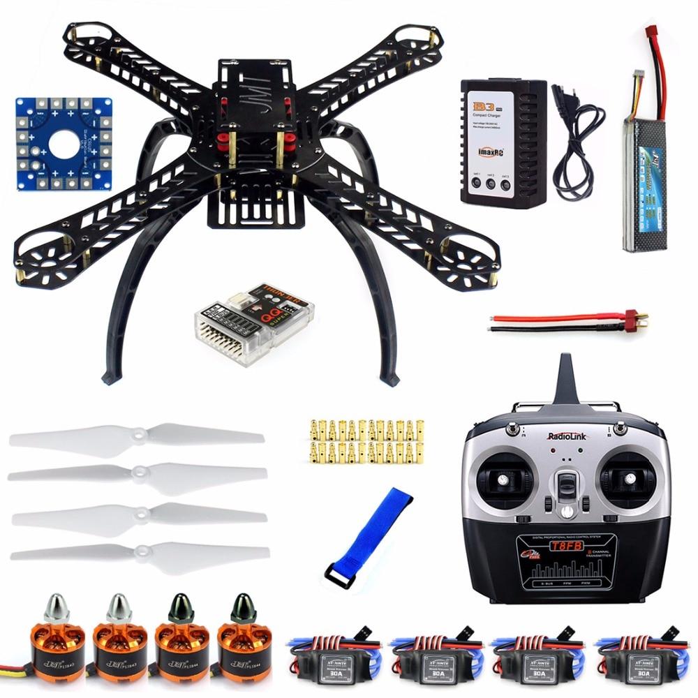 F14893-I DIY RC Drone Quadrocopter Full Set X4M380L Frame Kit QQ Super Radiolink T8FB Transmitter Brushless Motor ESC diy rc drone quadrocopter rtf x4m360l frame kit qq super radiolink at9 f14892 h