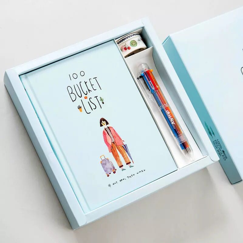 144 pages  book gift box with A5 creative notebook Korean style notebook  planner notebook for kids gift  144 pages  book gift box with A5 creative notebook Korean style notebook  planner notebook for kids gift