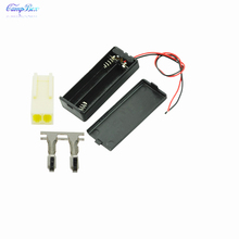 50Pcs 2xAAA Battery Case Holder Socket Wire Junction Boxes With Wires, Switch&Cover, KF2510 Header and Crimps