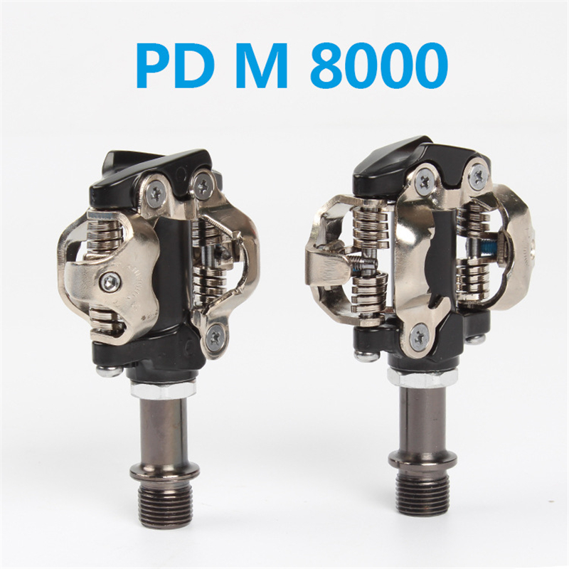 MTB Bicycle <font><b>Pedal</b></font> Self-Locking SPD <font><b>Pedals</b></font> With Cleat Racing Mountain Bicycle Bike Parts For <font><b>SHIMANO</b></font> DEORE <font><b>XT</b></font> PD M8000 <font><b>M8020</b></font> image