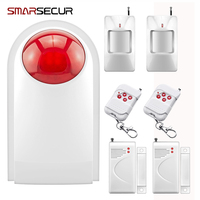 433MHZ Home Burglar Security Alarm System Waterproof Wireless Outdoor Siren Sensor Kit For Home Security Protection