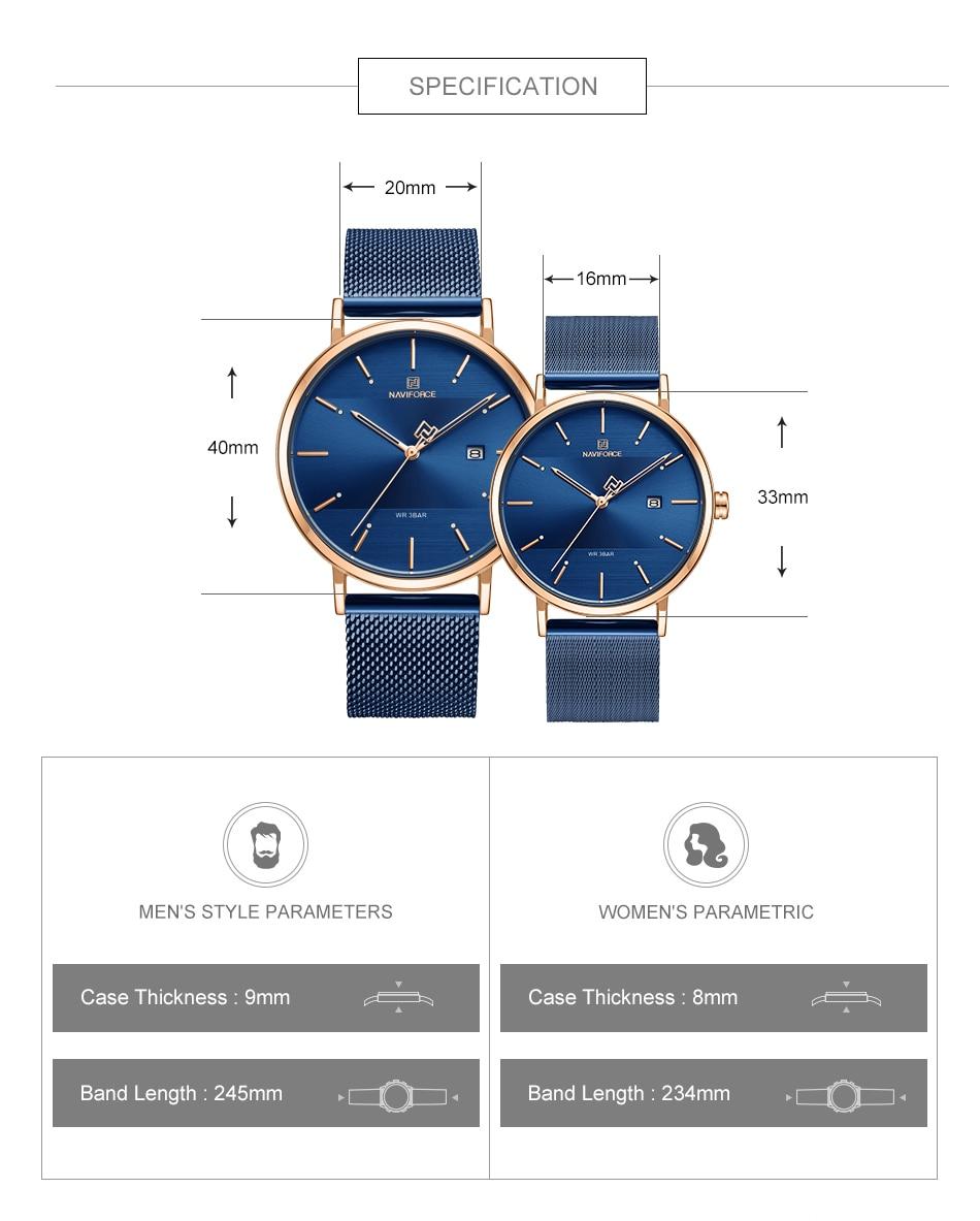 NAVIFORCE New Stylish Women Watches Top Brand Luxury Stainless Steel Strap Quartz Wristwatch For Woman Bracelet Watch 2019 Gift (5)