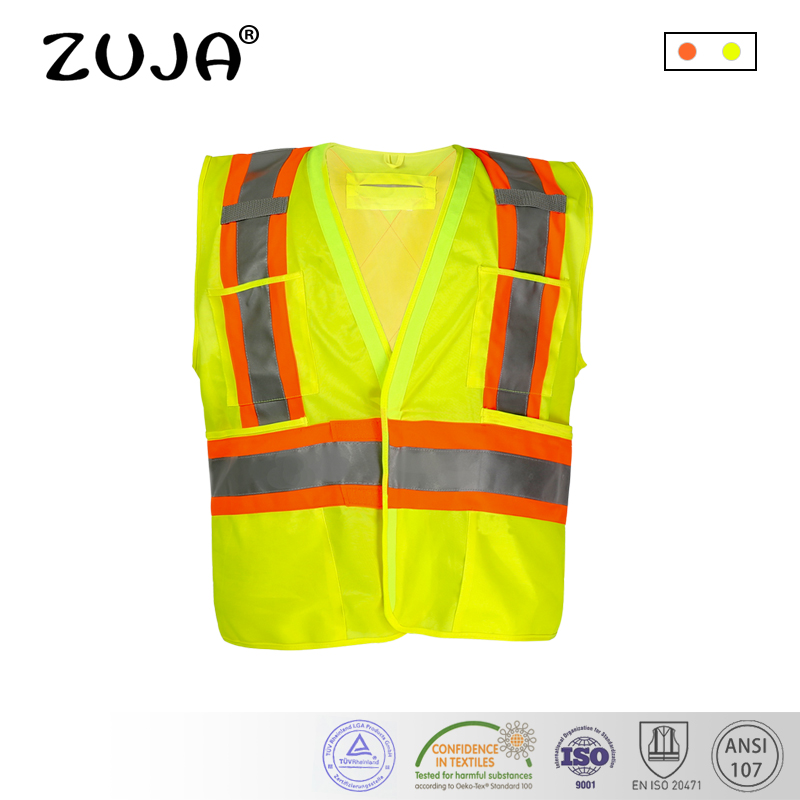 High quality high visibility safety clothing reflective workwear mens vest waistcoat large size fluorescent yellow high quality chinese traffic reflective safety vest safety waistcoat sanitation reflective clothing working vest