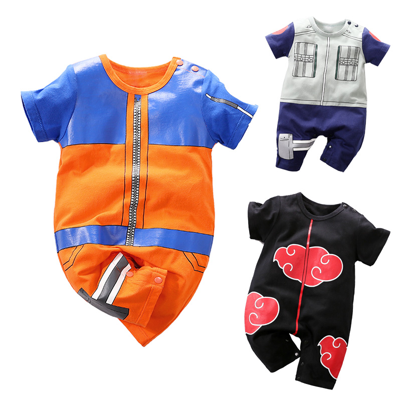 YiErYing High Quality Summer Baby Clothing Baby Cartoon   rompers   Naruto Style Short Sleeve Baby Jumpsuits Baby Boy Girl Clothes
