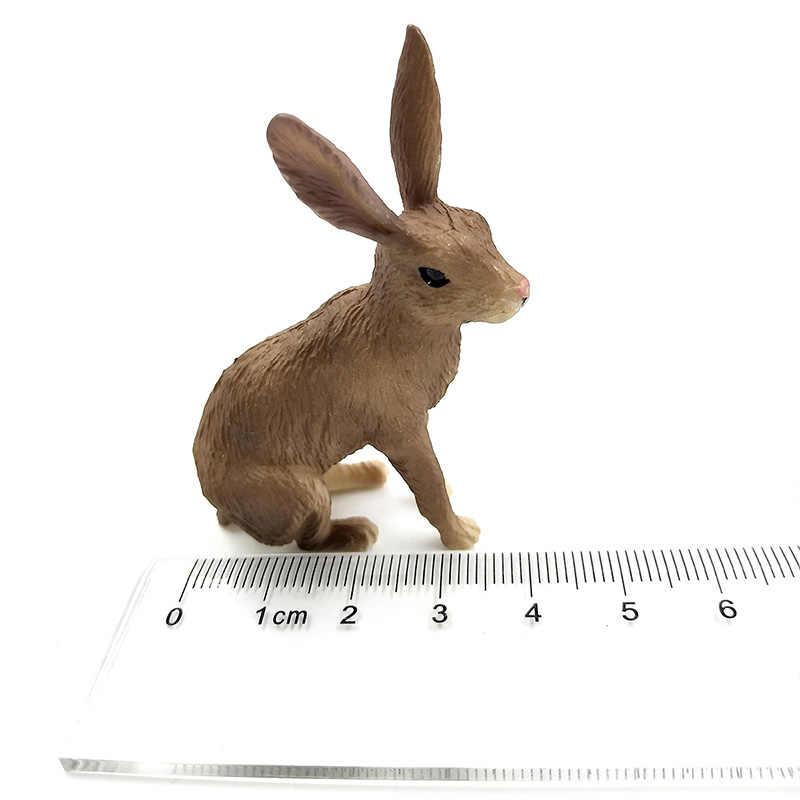 Simulação de mini modelo figura lebre Coelho Animais estatueta decoração de casa acessórios de decoração moderna estátua do jardim de fadas em miniatura