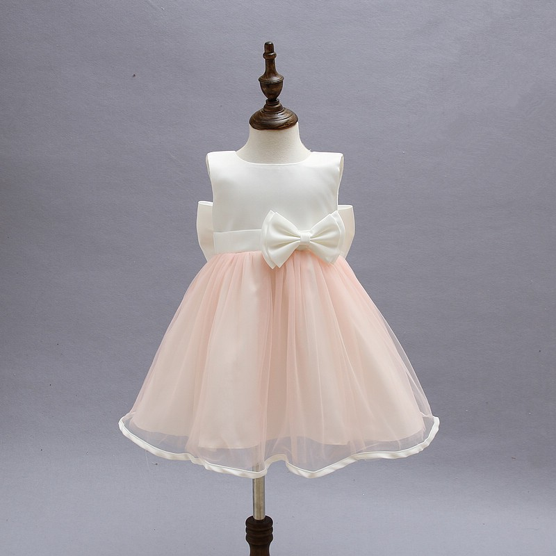 Kid Dresses For Girls Children Infant Toddler Princess Party Wedding Dresses With Bow for Summer Girls Clothes 2-8 Years