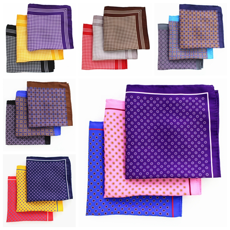 JEMYGINS Slik Plaid Dot Multicolor Fashion Men Pocket Square Sell Well Hankerchief Accessories for Gentlemen Suit