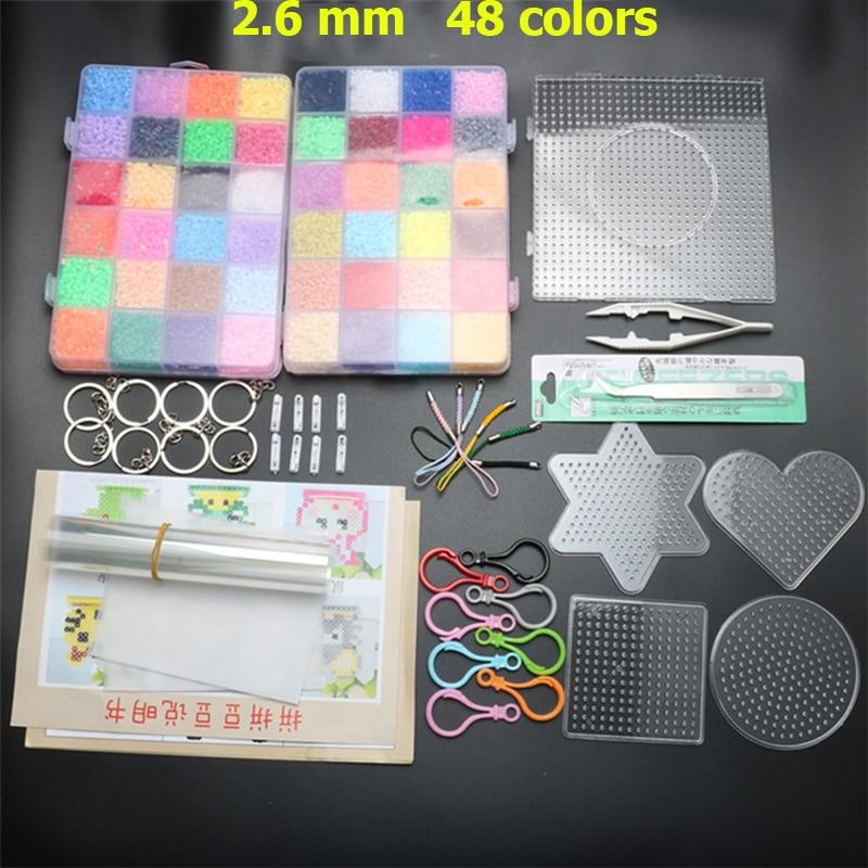Amor P Prettyia 6 Unids 5mm Claro Perler Hama Beads Pegboard DIY Ni/ños Artesan/ía Juguetes Educativos