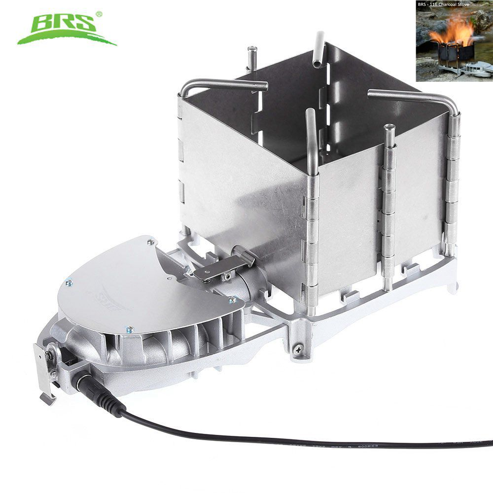 BRS 116 Folding ultralight Wood burning Stove Air outlet ...
