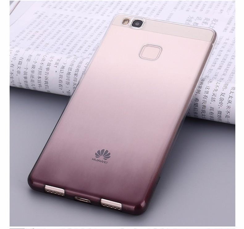 Ultra-cienki przezroczysty miękka tpu case dla huawei p8 p9 plus p8 lite krzemu gradientu telefon ochronna pokrywa dla huawei p9 Shell 19