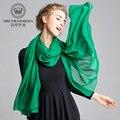 220*66 CM Seda Pura 100% Sólido Bufandas Nuevo 2016 Largo Foulard mantones de Las Señoras de Las Mujeres Jersey Portugal Bufanda Wraps 11 Colores L