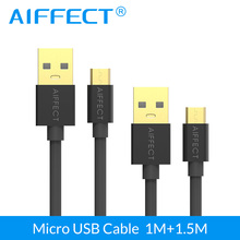 AIFFECT 1M+1.5M 5V3A Micro USB Cable Fast Charging Mobile Phone USB Charger Cable Data Sync Cable for Samsung HTC LG Android car charger adapter micro usb charging data cable set for samsung htc white black