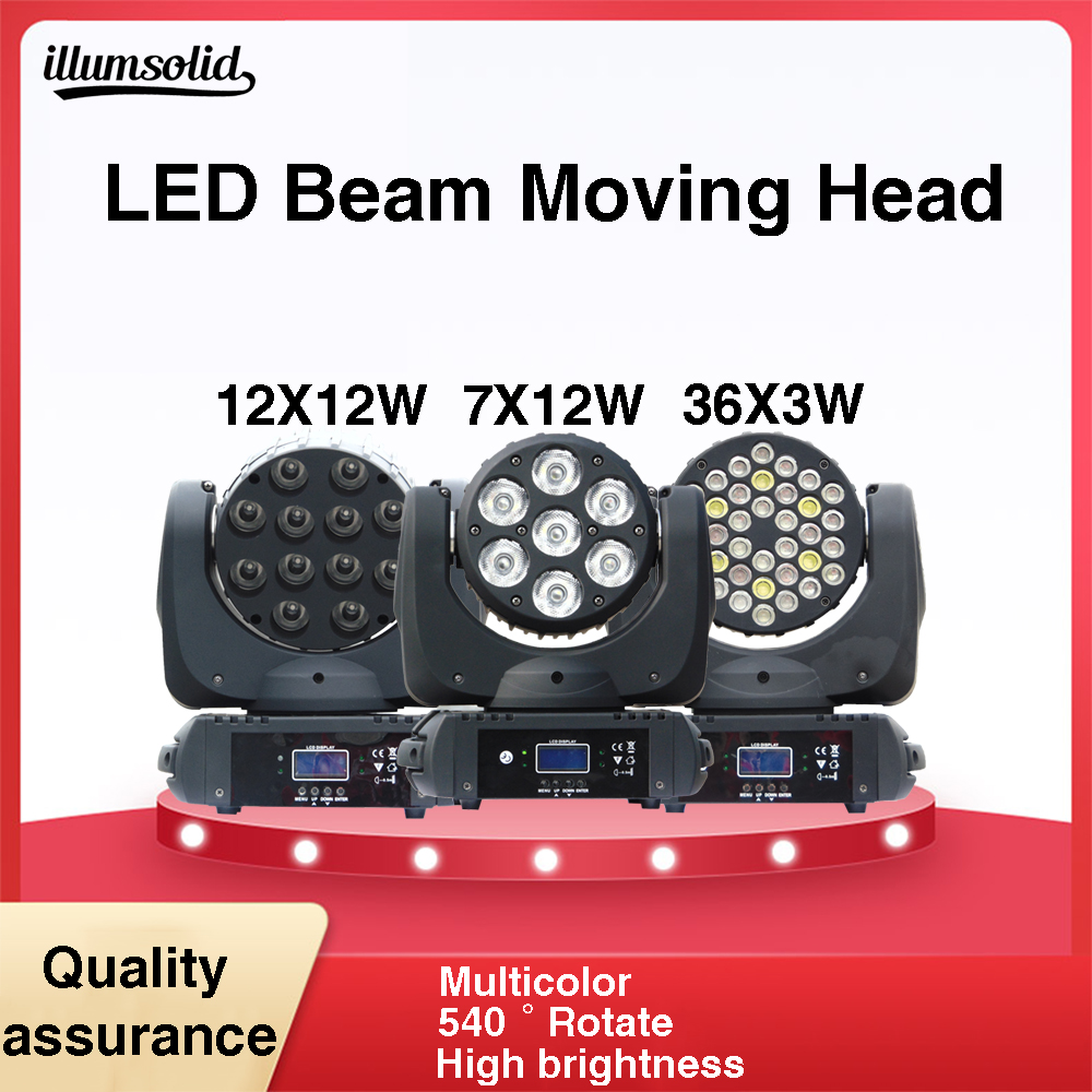 Moving Head Light LED Wash Professional DJ with RGBW Beam mix colors dmx mobile head stage