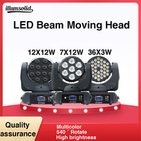 Moving Head Light LED Wash Professional DJ with RGBW Beam mix colors dmx mobile head stage light