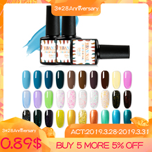 RBAN NAIL 7ml Nail Gel Polish Soak off Set Semi Permanent UV LED Art Varnish Manicure Accessories 296 Colors