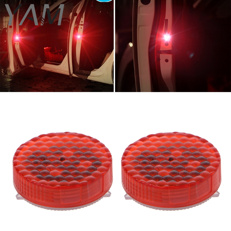 Universal Waterproof Wireless Car SUV Trucks Door LED Safety Warning Light With 3 Led Chips Strobe Flicker Anti Collision