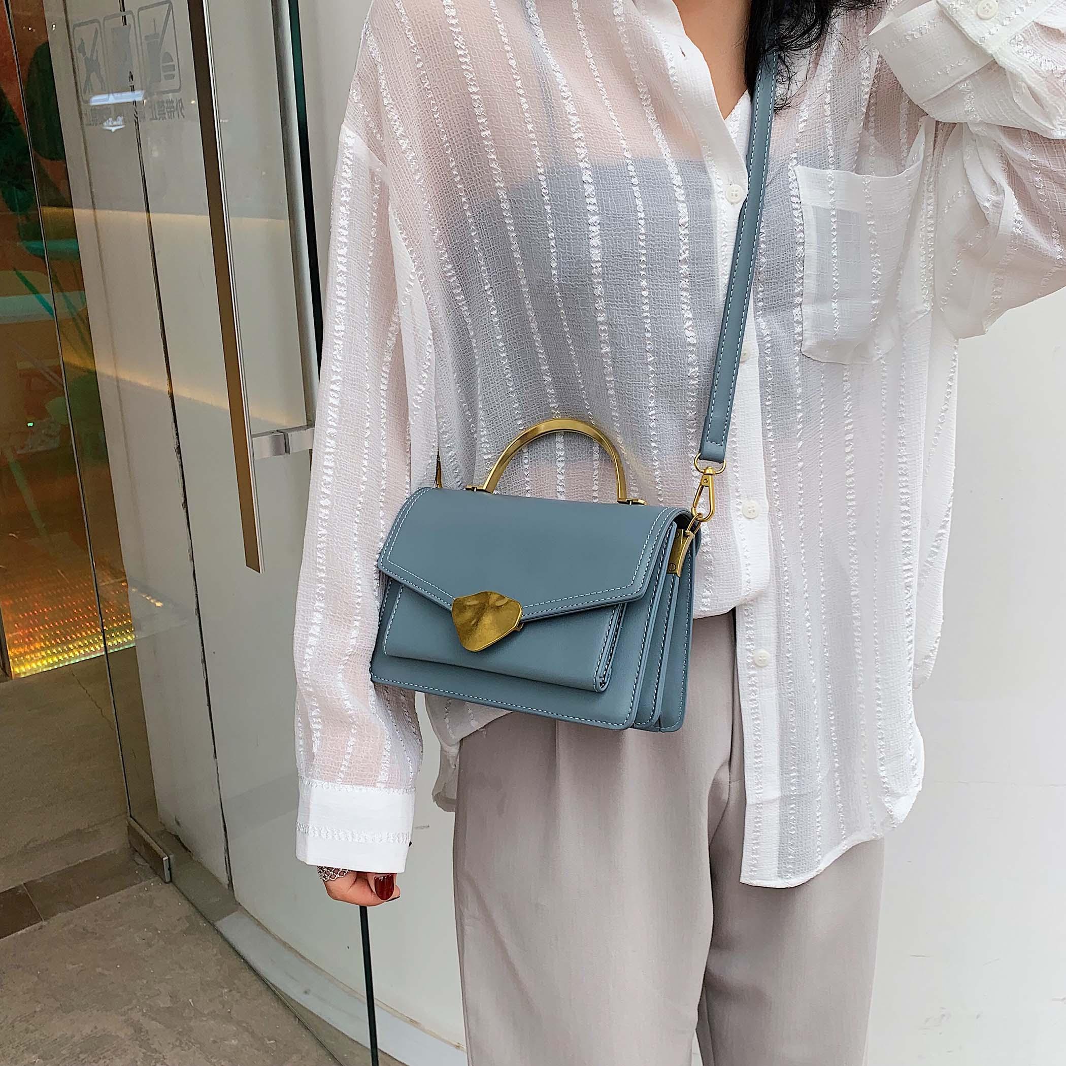 Image 3 - Simply Style PU Leather Crossbody Bags For Women Shoulder Messenger Bag Handbag Mini Tote Hand Bag With Metal Handle-in Shoulder Bags from Luggage & Bags