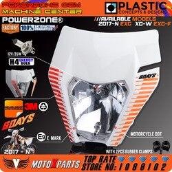 Powerzone Motorcycle Dirt Bike Motocross Sixdays Headlight Headlamp For KTM 6days EXC XCW EXCF SX F 125 250 300 450 500 2017 18