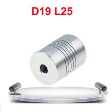 Acoplamento flexível 5mm a 8mm 5x8 6.35x10 8x8 para impressora 3d 1 pc 28 tipos acoplador de eixo da maxila do motor cnc d19xl25mm