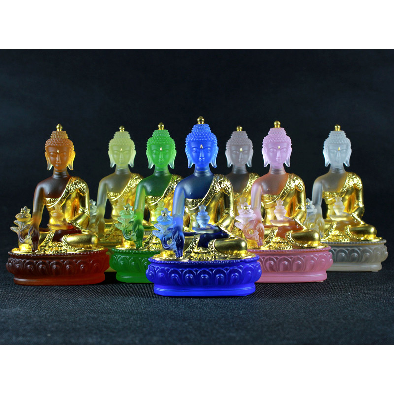Bhaisajyaguru Buddha Statue Buddha Figurine Buddhist Sculptures Greco Buddhist Glass Art&Craft Home Decoration R57