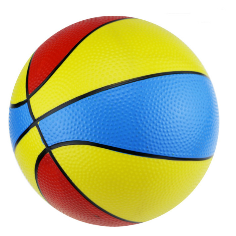 8.5 Inch Thick Color Basketball Children's Inflatable Toy Tricolor Basketball Accessories Basketball Training