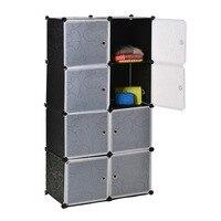 Homdox 8 קוביות DIY ארון בגדים ארון ארונות ארונות למכירה ארגון מותאם אישית פלסטיק ארון בגדים ארון ארון מעיל N1525