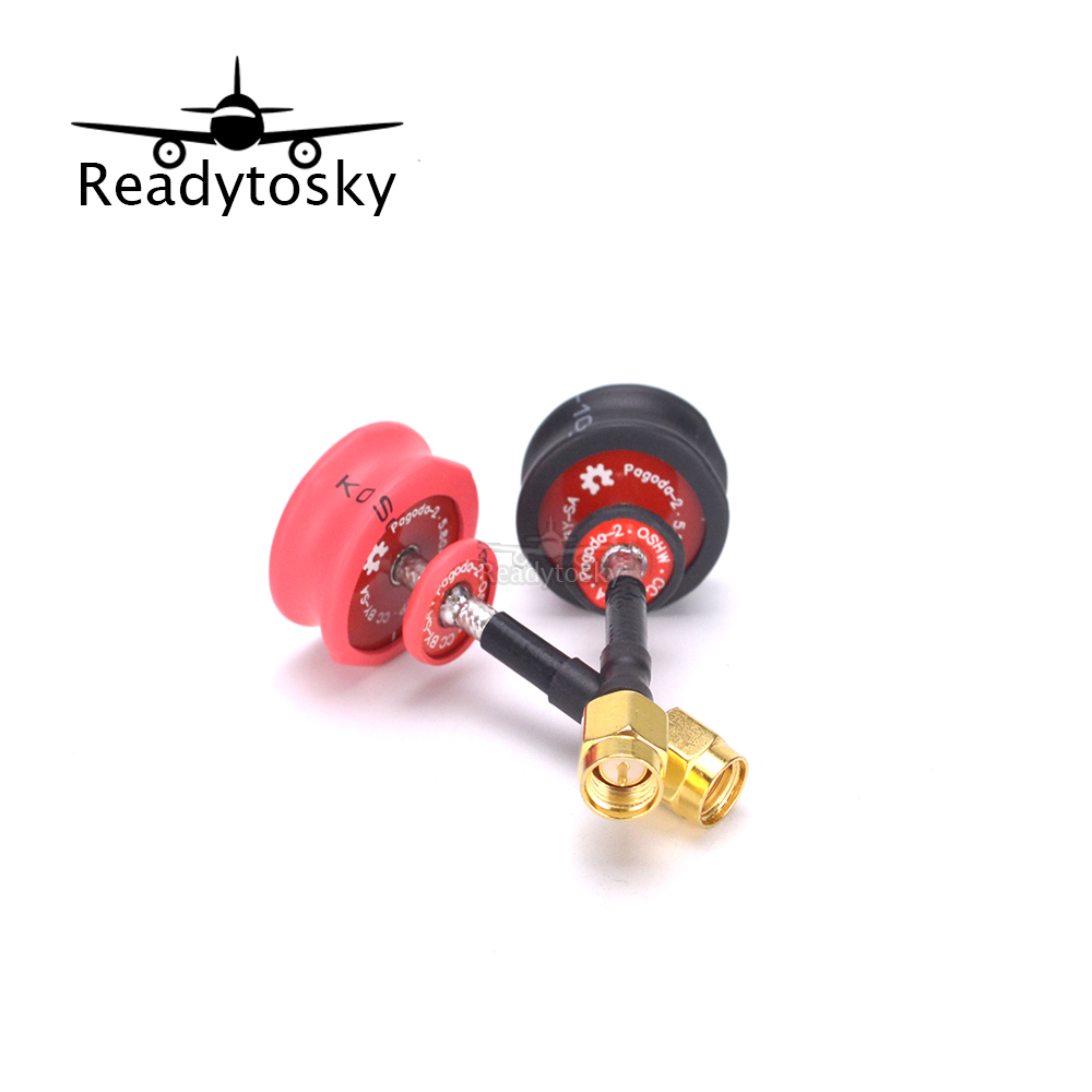 2pcs Pagoda 2 pagoda-2 5.8GHz FPV Antenna SMA & RP-SMA Plug Connector for RC FPV Racing Drone Quadcopter frsky x9d plus transmitter tx spare parts rf connector 70 rp sma 5dbi antenna adapter for rc models drone quadcopter
