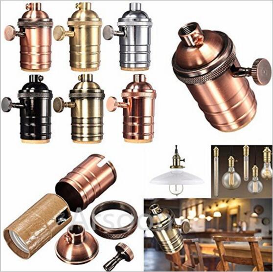 DIY Retro Vintage E27 Lampenfassung Sockel Loft Industrial Style Edison Lampenfassung E27 Sockel Lampenfassung