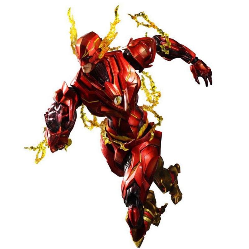 27CM The Flash Action Figures Marvel Superhero Anime Cartoon PVC Figure Toys Movie Model Heavily-armored Barry Allen Kids Gift
