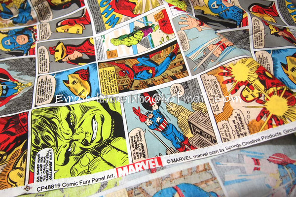 Cr6306 1 Yard Baumwollgewebe Marvel Avengers Comic Fury