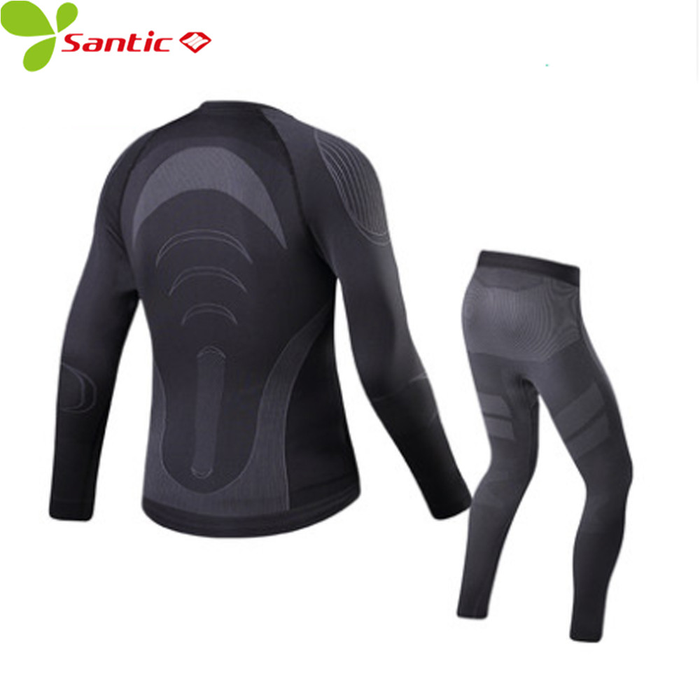 Santic Weaving Material Sports Base Layer Suits Tight Thermal Warm Up Winter Sportswear Ski Motorcycle Running Cycling Underwear беляева и эскиндаров м ред корпоративная социальная ответственность