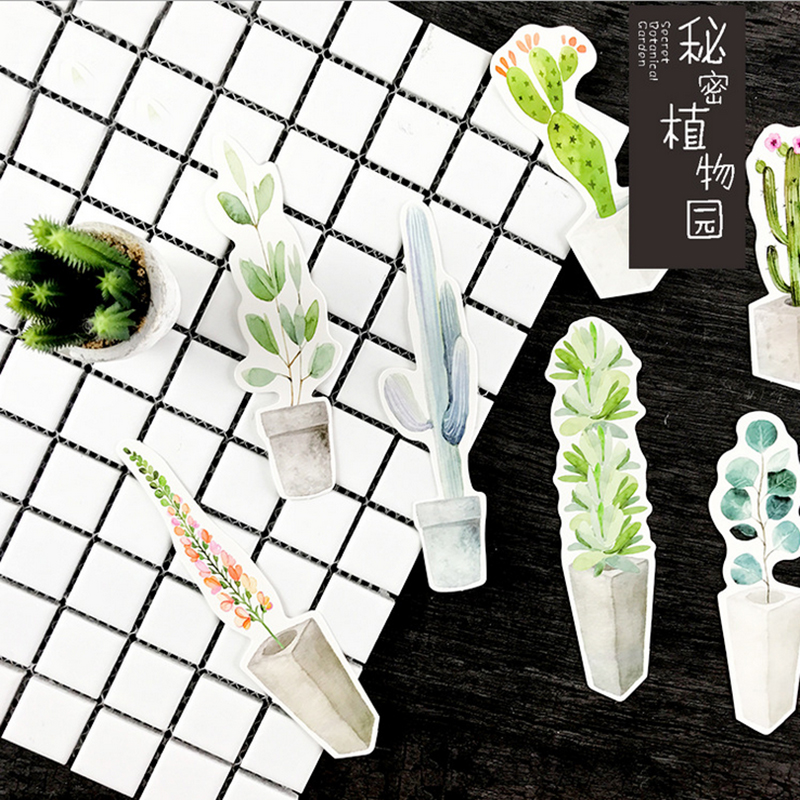 Купить с кэшбэком 30pcs/box Secret botanical garden Gift Bookmarks Marker Stationery Gift Realistic Kawaii Cartoon Bookmarks Office School Supply