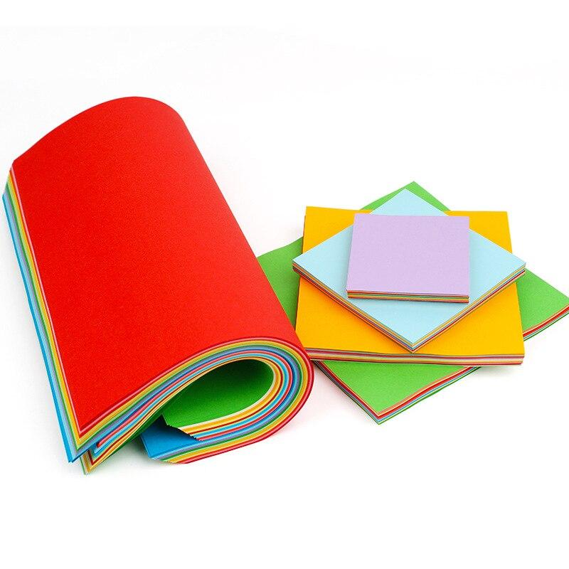 50pcs Square Origami Paper 10 Colors Papers Kids Handmade DIY Scrapbooking Craft Decoration Origami Paper-cut Material