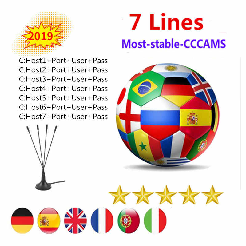 1 Year line Europe 7 lines Card sharing Server Mgcam Cccams