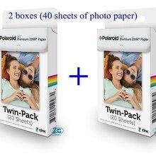 40 листов фотобумаги Премиум ZINK бумага для моментальной фотокамеры Polaroid Z2300 Snap Touch Zip Pinter Socialmatic Instagram