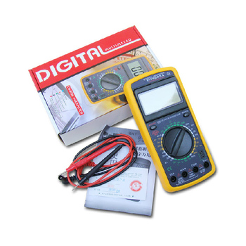 AC/DC LCD Display Professional Electric Handheld Tester Meter Digital Multimeter Multimetro Ammeter  Multitester uni t lcd ut61c ut 61c handheld modern digital multimeter ac dc meter