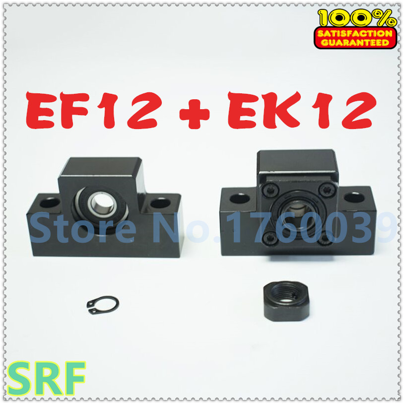 1set EK/EF12 Ballscrew Support macth use SFU1604 1605 1610 Ball screw end support for CNC Part cheap end support unit ek ef12 for sfu1604 sfu1605 sfs1610 sfe1616 ballscrew 1pc ek12 1pc ef12