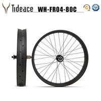 26er 32H carbon fat bike rims wheel 80mm carbon snow bicycle wheelset Chinese 26 Wheels Carbon Clincher Novatec hubs thru axle