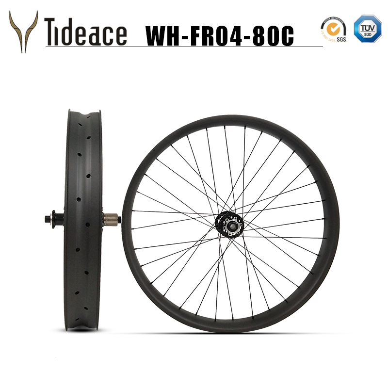 26er 32H carbon fat font b bike b font rims wheel 80mm carbon snow bicycle wheelset