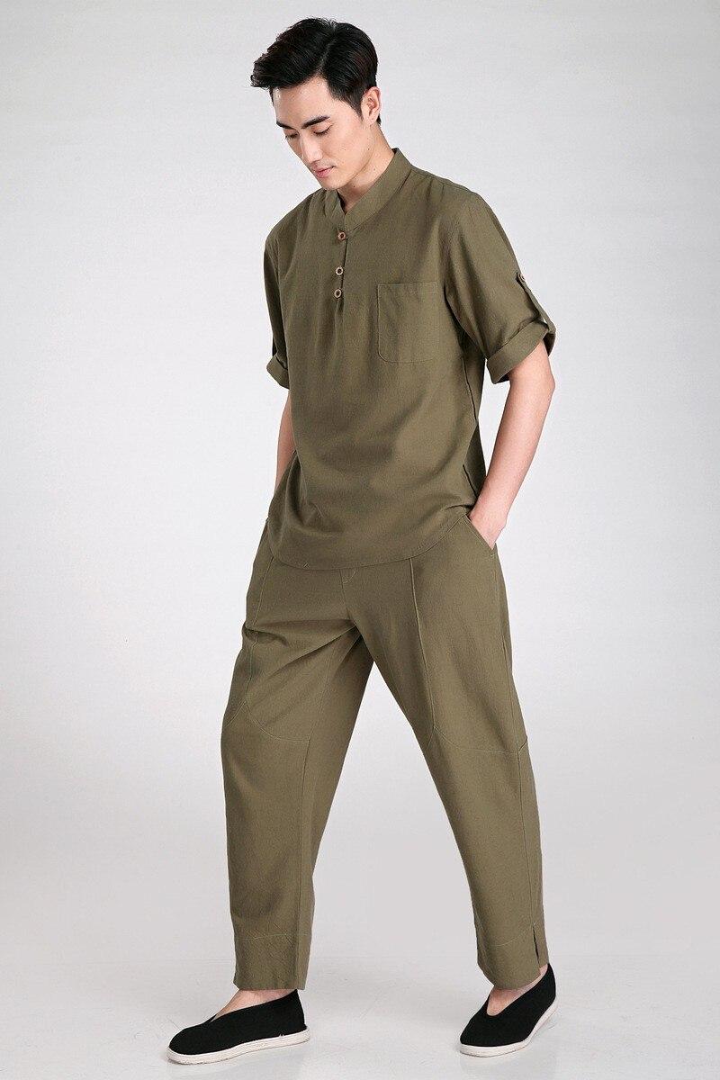 ᐅNueva llegada beige chino hombres Kung Fu uniforme tai chi algodón ...