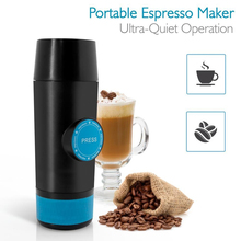 2 in 1 Capsule & Ground Powder Mini Espresso Portable Coffee Maker Hot and Cold Extraction USB Electric Travel Coffee Machine