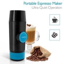 Mini cafetera portátil Espresso 2 en 1, cápsula y polvo molido, extracción en frío y caliente, máquina de café de viaje eléctrica USB