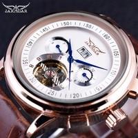 Jaragar Classic Racing Series Rose Gold Bezel Wrist Watch Tourbillion Men Watch Top Brand Luxury Male Automatic Mechanical Watch