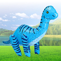 Blue 76*40cm Inflatable Jurassic Park Toys Dinosaur Decorative Props Children's Education toys Birthday Party Favor