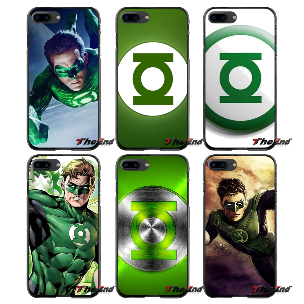 Green Lantern Logo Printed Accessories Phone Cases Covers For Apple iPhone 4 4S 5 5S 5C SE 6 6S 7 8 Plus X iPod Touch 4 5 6